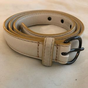 Cole Haan Creamy White Belt, with silver buckle